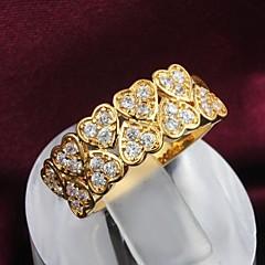 Anéis Casamento / Pesta / Diário Jóias Liga Feminino Anéis Statement6 / 7 / 8 / 9 Dourado