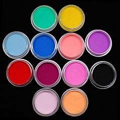 12st kleuren sculptuur gekleurd acryl macht nail art decoratie