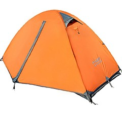 FlyTop ® Double Layers Double Doors Rain-Proof Fold Tent for Camping FTZ1001