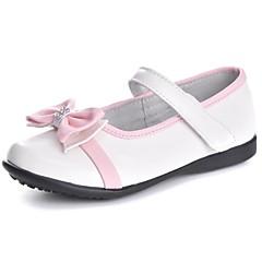 ( Svart/Hvit ) Komfort/Rund Tå/Lukket Tå - Flate sko - Kalvehår - GIRL