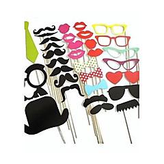 Wedding Décor 32pcs DIY Photo Booth Props Moustaches On A Stick  Party Favor