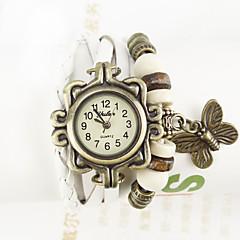 ww Frauenblumendruck gewickelt Armband Armbanduhren