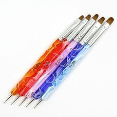 アクリル系UVジェルDIYネイルデザインに設定されたペンのネイルアートツールを描くペン絵筆マニキュアに点在クリニーク