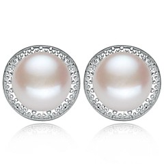 Women's Freshwater Pearl Prevent Allergies Stud Earrings
