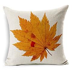 efterår blad bomuld / hør dekorative pudebetræk