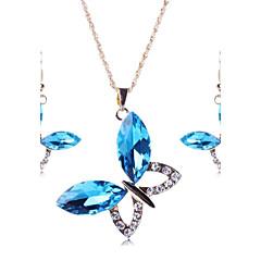 Šperky Set Dámské Párty Sady šperků Slitina Křišťál / imitace drahokamu Náhrdelníky / Küpeler Zlatá