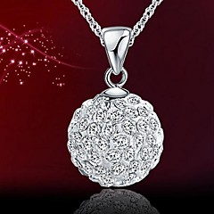 Ladies' Silver Ball Rhinestone Charm