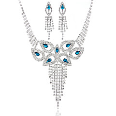Ladies'/Women's Alloy Wedding/Party Jewelry Set With Multi-stone