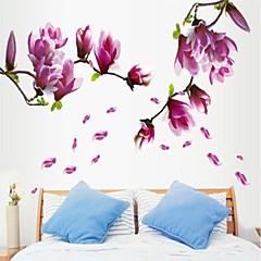 miljømæssige lilla magnolia blomst formet væg sticker