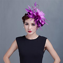 Women Wedding/Party Satin Fascinator with Feathers SFC12214