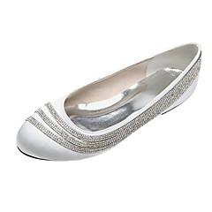 Damen Hochzeitsschuhe Rundeschuh Ballerinas Hochzeit/Party & Festivität Schwarz/Blau/Rosa/Lila/Elfenbein/Weiß/Silber