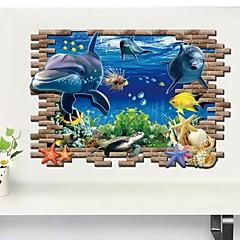 Dyr / 3D Wall Stickers 3D mur klistermærker Dekorative Mur Klistermærker,PVC Materiale Kan fjernes Hjem Dekoration Vægoverføringsbillede