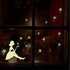 lysende miljømæssige aftagelig blæser mælkebøtte pige pvc tags&sticker