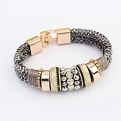 Women's Trend Leopard Alloy Fashion With Rhinestone Bracelet (More Colors)