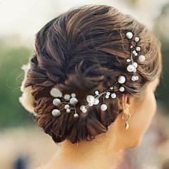 Női Koszorúslányok Gyöngy Sisak-Esküvő Különleges alkalom Hétköznapi Hajtű