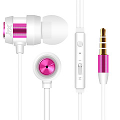 JTX-702 3.5mm Noise-Cancelling Mike In Ear Earphone for Iphone and Other Phones