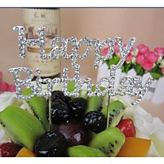 Tortenfiguren & Dekoration Nicht-personalisierte Chrom Babyparty / Geburtstag Schleife / Strass Silber Klassisches Thema 1 PVC Tasche