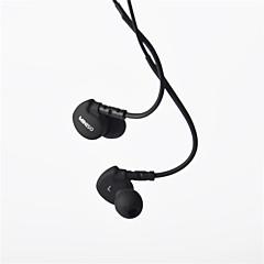 ekte miniso hodetelefon 3,5 mm i øregangen super bass med mikrofon fjernkontroll for samsung s4 s5 s6
