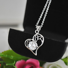 Women Jewelry Wholesale Heart with CZ Pendant Necklaces Heart Necklaces