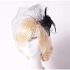 Femme Tulle / Filet Casque-Mariage / Occasion spéciale / Extérieur Coiffure / Fleurs / Voile de cage à oiseaux 1 Pièce