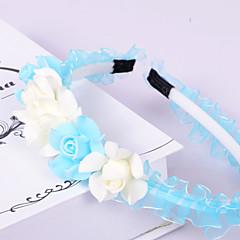 נשים נערת פרחים אורגנזה פלסטיק כיסוי ראש-חתונה אירוע מיוחד קז'ואל משרד וקריירה חוץ סרטי ראש חלק 1
