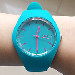 European Style Sashion Newest Candy-colored Silicone Geneva Watch