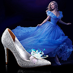 Women's Shoes Synthetic Stiletto Heel Pointed Toe Pumps Dress Silver