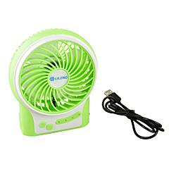 Green Color Portable Multifunctional 18650 Battery Fan USB Charge