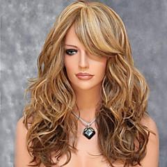 גלים זהובים טבעיים אופנה של שיער סינטטי באיכות גבוהה