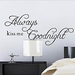 altid kysse mig godnat citat wallstickers zooyoo2003 dekorative adesivo de Parede aftagelig væg sticker
