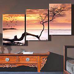 e-Home® de dode zee klok in doek 3pcs