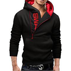 Men's Asymmetrical / V-Neck Sweats & Hoodies , Acrylic / Organic Cotton / Rayon Long Sleeve Vintage / Fall AAAMAN
