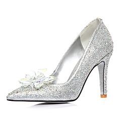 Women's Shoes Calf Hair Stiletto Heel Heels/Pointed Toe Pumps/Heels Wedding/Dress Silver
