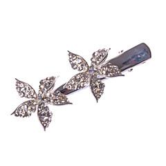 Dame / Blomsterpige Legering Headpiece-Bryllup / Spesiell Leilighet / Avslappet / Kontor & Karriere / Utendørs Barette 1 Deler Sølv Rund