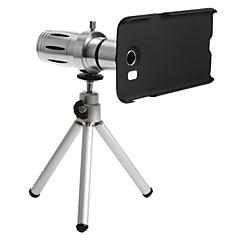 smartphone métallique 12 x objectif zoom téléobjectif réglé avec trépied pour samsung S6