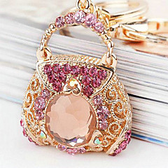 Zinc Legering / Strass Nyckelrings Favors-1 Piece / Set Nyckelband Ej personlig Rosa