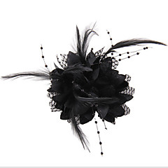 Dame Blonde / Imitert Perle / Chiffon Headpiece-Bryllup / Spesiell Leilighet / Avslappet / Utendørs fascinators / Blomster / Kranser1