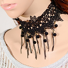 Vintage Gothicl Tassels Bead Necklace