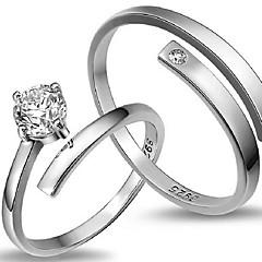 ステートメントリング 純銀製 幸福 調整可能 ファッション スクリーンカラー ジュエリー 結婚式 パーティー 日常 1個