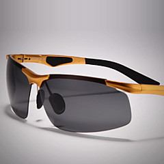 Óculos de Sol Homens's Leve / Polarized Enrole Preta / Prateada / Marrom / Dourada / Cinzento Óculos de Sol / Esportivo / ConduçãoMoldura