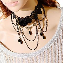 Vintage Flower Tassels Drip Pearl Necklace