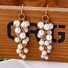Cute Little Bunches Long Section of Pearl Earrings