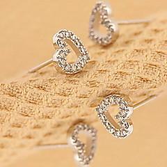 Women's Peach Heart Hollowed-out Earrings