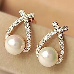 Damen Ohrring Legierung Künstliche Perle Stud Earrings
