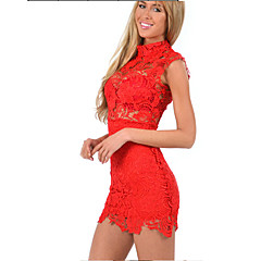 XiXi Women's Sexy/Bodycon/Casual/Lace/Party Sleeveless Dresses (Lace