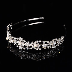 Bridal Crown Silver  Queen Flower Leaf Butterfly Crystal/Diamond  Flower Hairclips Headpiece Wedding/Party
