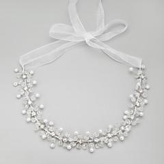 Women's Alloy/Rhinestone/Imitation Pearl Necklace Anniversary/Wedding/Engagement/Birthday/Gift/Special Occasion Imitation Pearl/Rhinestone