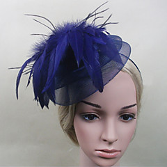 Women Feather/Net Elegant Flowers With Wedding/Party Headpiece(More Colors)
