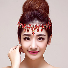 Red Rhinestones Wedding/Party Headpieces/Forehead Jewelry