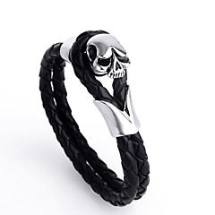Fashion Skeleton Shape Stainless Steel Bracelets For Men(Black)(1Pc)